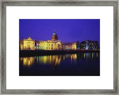 Custom House, Dublin, Co Dublin Framed Print by The Irish Image Collection