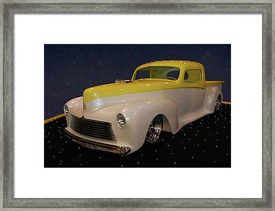 Framed Print featuring the photograph Custom Hudson Pickup by Bill Dutting