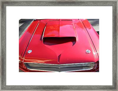 Custom Red Ford Mustang - 5d19305 Framed Print by Wingsdomain Art and Photography