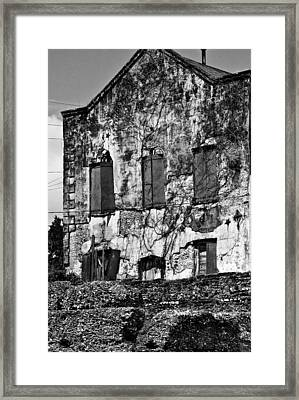 Customs House And Ruins Framed Print by Michael Ray