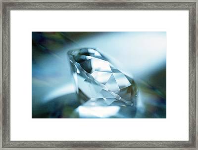 Cut Diamond Framed Print by Pasieka