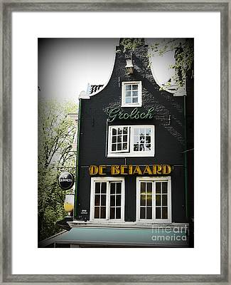 Cute Architecture In Amsterdam Framed Print