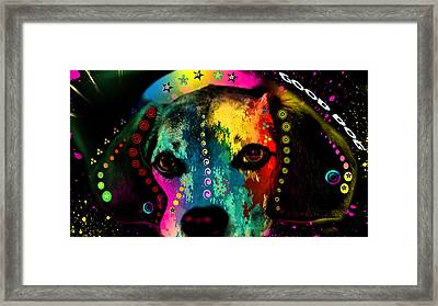 Cute Dog  Framed Print by Mark Ashkenazi