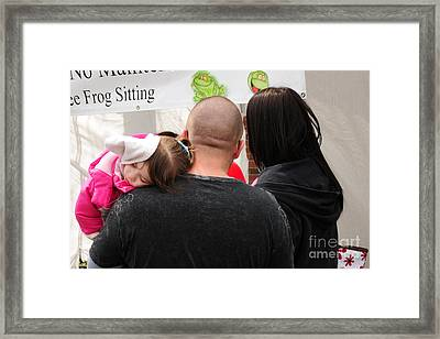 Framed Print featuring the photograph Cute by Jack Moskovita