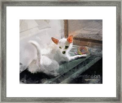 Cute Little Maggie May Framed Print by Rhonda Strickland