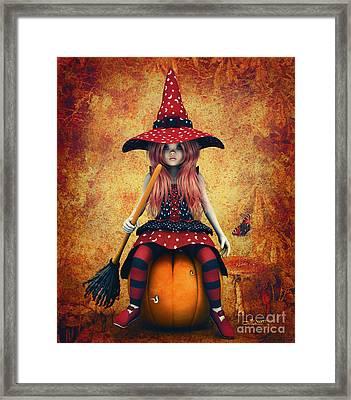 Cutest Little Witch Framed Print by Jutta Maria Pusl