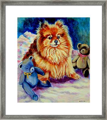 Cutie Pie - Pomeranian Framed Print