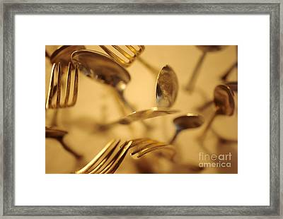 Cutlery Vortex Framed Print by Bruce Stanfield