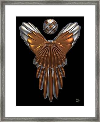 Cyber Angel Framed Print by Manny Lorenzo