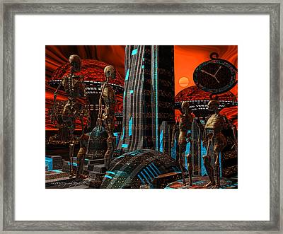 Cyber Innovation Framed Print by Lourry Legarde