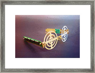 Cyber Sunglasses. Framed Print by Max Shkoropado