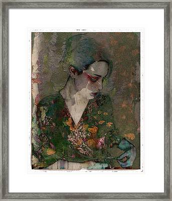 Cybergeisha Vii Framed Print by Adam Kissel