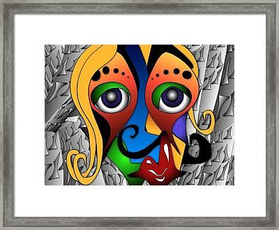 Cyborg Framed Print by Artzilla Ink