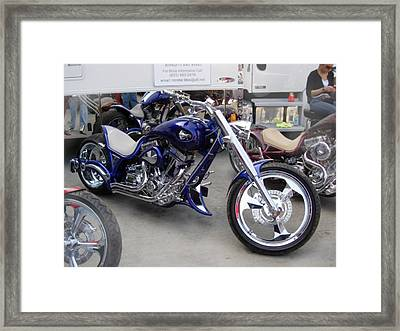 Cycle Blue Framed Print
