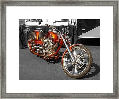 Cycle Orange Framed Print