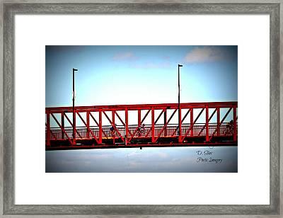 Cyclers Framed Print by Debbie Sikes