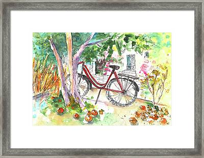 Cycling In Cyprus Framed Print by Miki De Goodaboom