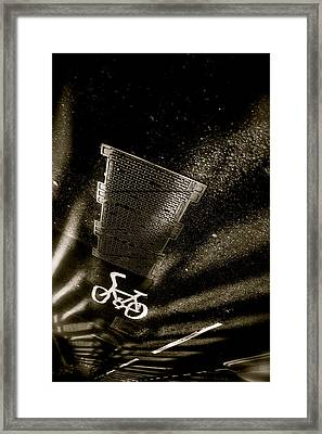 Cycling Shades Framed Print by Jez C Self