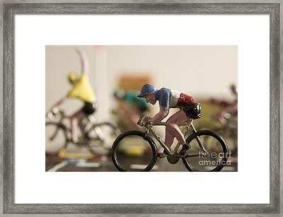 Cyclists. Figurines. Symbolic Image Tour De France Framed Print