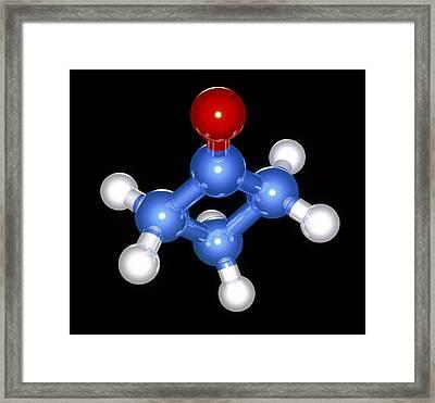 Cyclobutanone Molecule Framed Print by Laguna Design