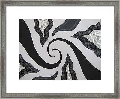 Cyclone Framed Print by Courtney Adams