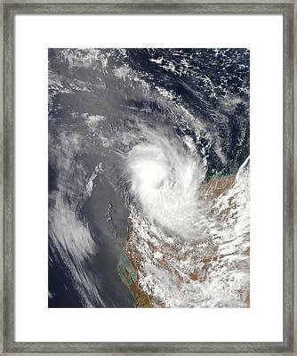Cyclone Dominic Off The Shore Framed Print by Stocktrek Images