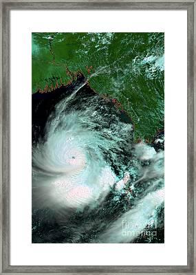 Cyclone Nargis Framed Print by Esa