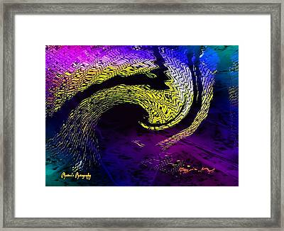 Framed Print featuring the digital art Cyclone by Sadie Reneau
