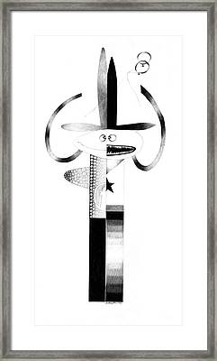 Cycloptic Identity Crisis  Framed Print by Tony Paine