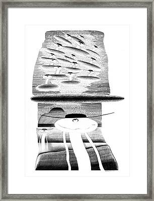 Cycloptic Invasion Framed Print by Tony Paine