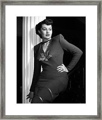 Cyd Charisse, Portrait Circa 1949 Framed Print by Everett