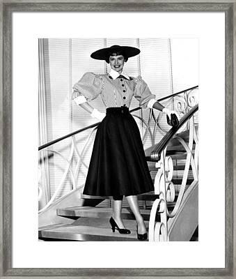 Cyd Charisse, Portrait Circa 1952 Framed Print by Everett
