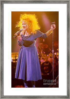 Cyndi Lauper Framed Print by David Plastik