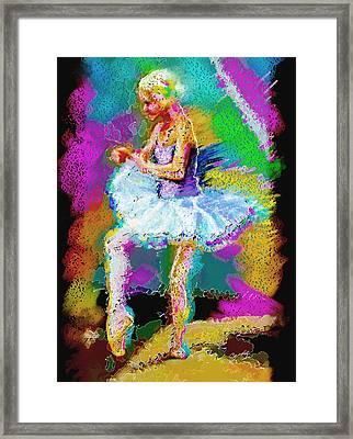 Cynthia Ballet Self Portrait Framed Print by Cynthia Sorensen