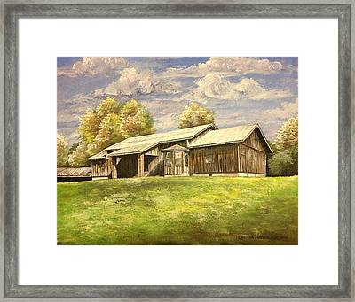Cypress House 1 Framed Print by Cecilia Putter