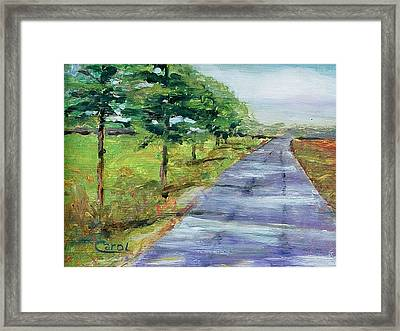 Framed Print featuring the painting Cypress Lane by Carol Berning