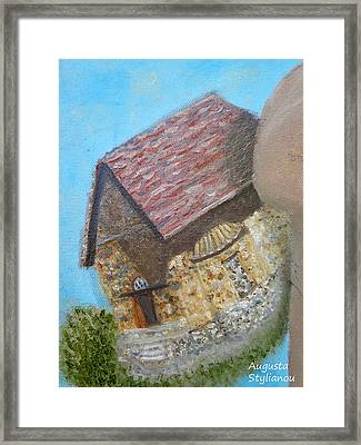 Cyprus Asinou Church Framed Print by Augusta Stylianou