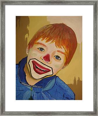 D Clown Framed Print