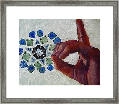 D Is For Diatoms Framed Print by Jessmyne Stephenson