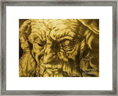 Da Vinci Sketch Framed Print by Pg Reproductions