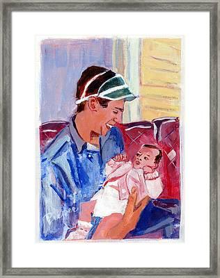 Dad And Me In Hazleton Pennsylvania Framed Print