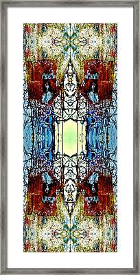 Dadaist Stained Glass Window Framed Print by Laura Fedora