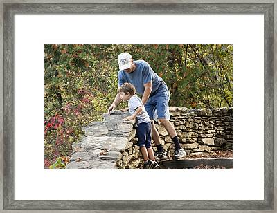 Framed Print featuring the photograph Daddy And Son by Darleen Stry