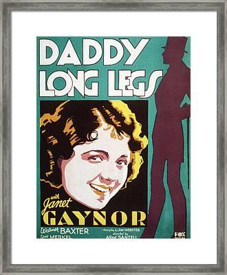 Daddy Long Legs, Janet Gaynor, 1931 Framed Print by Everett