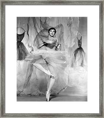 Daddy Long Legs, Leslie Caron, 1955 Framed Print