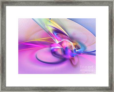 Daddys Girl - Abstract Art Framed Print by Abstract art prints by Sipo