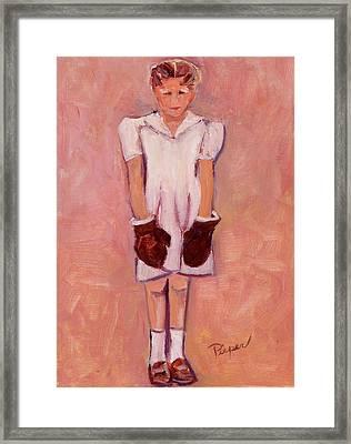 Daddy's Girl Framed Print by Elzbieta Zemaitis