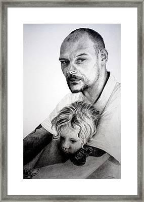 Daddy's Girl Framed Print by Lynn Hughes