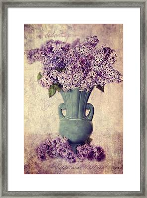 Daddy's Lilacs Series Vi Framed Print by Kathy Jennings
