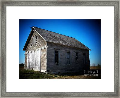 Daddys Old School House Framed Print by Joyce Kimble Smith